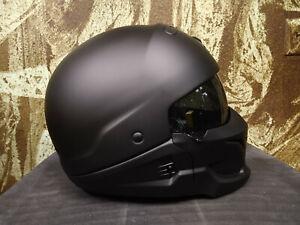 Scorpion Covert Motorcycle Street Helmet Matte Black Large 75-1600L