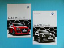 Prospekt / Katalog / Brochure mit Preisliste VW Golf GTI Edition 30  05/07