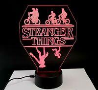 Stranger Things lampada luce notturna Led 3D Acrylic Night Light Lamp 7 Colour