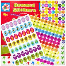 Teachers Reward Stickers 1000 Motivational Star & Smiley Stickers for Children,2