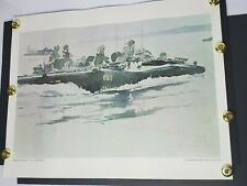 Us Marine Corp Art Collection Amtrack Going In Pm Gish 1971 22x28 Print Poster