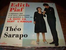 "EDITH PIAF / THEO SARAPO emporte moi ( world music ) 7""/45 picture sleeve"