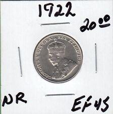 1922 Canada 5 Cents Coin - Near Rim - EF-45