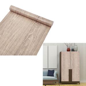 10m Wood Grain Kitchen Cupboard Door Cover Self Adhesive Vinyl Furniture Film