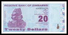 ZIMBABWE 20 $ DOLLAR 2009. PICK 95. SC. UNC (Uncirculated).