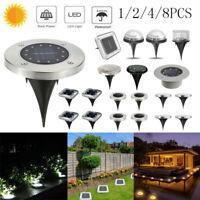 LED Solar Ground Floor Decking Lights Outdoor Waterproof Garden Lawn Path Lamp