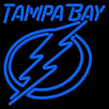 "Tampa Bay Lightning Blue Neon Lamp Sign 20""x16"" Bar Light Beer Glass Display"