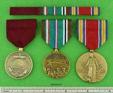 3 WWII Navy Medals & Ribbons - Good Conduct, European Theater, WW2 Victory  ETO