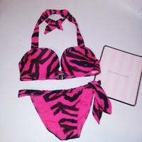 Victoria Secret Swim Bikini 34C Top Bombshell Push Up Adds 2 Cup Sizes Small
