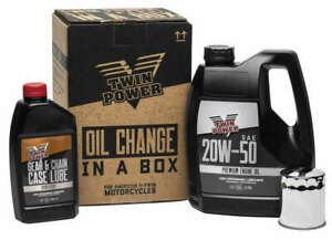 Twin Power 20W50 Oil Change In A Box Kit Harley-Davidson Sportster 883 1987-2018