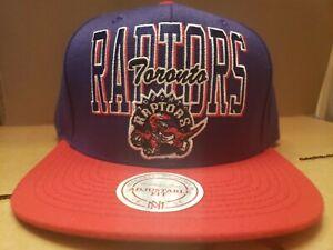 Mitchell & Ness Toronto Raptor's Retro Reverse Stack Snapback Adjustable Cap Hat