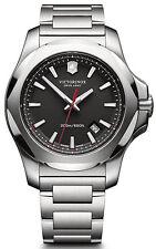 $625 VICTORINOX Swiss Army Mens BLACK 43mm Dial Stainless Steel Watch 241723