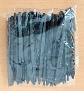 Plastik Messer schwarz 100 Stück 165 mm