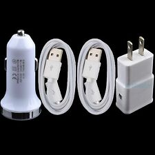 Wall Car Charger + 2x USB Cable for LG G4 G3 Flex 2 Stylo V10 K10 K8 K7 K5 Vista