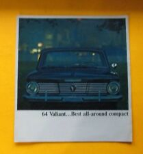 1964 PLYMOUTH VALIANT SHOWROOM SALE BROCHURE ..14- PAGES