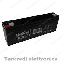 Batteria al piombo ermetica ricaricabile 12V 2,3Ah 2,2Ah agm allarme sirena