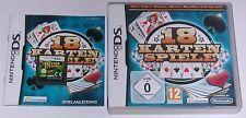 Spiel: 18 KARTENSPIELE Romme Skat Poker Mau Mau für Nintendo DS + Lite + XL 3DS