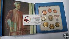 2002 Divisionale ufficiale 8 monete 3,88 euro ITALIA italie italien italy Италия