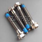 4pcs M5 x 35 mm Titanium Ti Screw Bolt Hexagon Hex Head Flange + Thread Loker