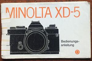 Minolta XD-5  _ Anleitung von 01.79