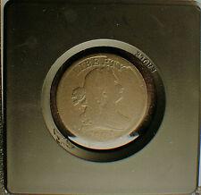1804 US Draped Bust Half Cent, C-9, Obverse Cud at RTY