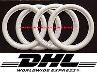 "Original ATLAS 15"" White Wall Port a walls Tire Trim set VW BUG PRE BEETLE Rare"