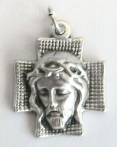 Holy Face of Jesus Medal Cross Genuine Italian