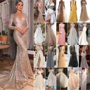 Women's Formal Wedding Elegant Party Dreses Prom Bridesmaid Ball Gown Maxi Dress