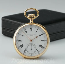 PATEK PHILIPPE LARGE CHRONOMETRO GONDOLO 18k GOLD 56mm, 133g, Pocket Watch & Box