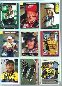 > 9 <  Hand Signed  AUTOGRAPHED CARD LOT  [*2]