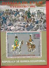Kavalleristen Reiter Pferde Block 207 Äquatorialguinea