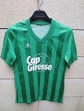 VINTAGE Maillot CAP GIRESSE Bordeaux Le Coq Sportif années 80 S collection vert
