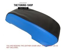 FOR FORD MONDEO 2001-06 BLACK & BLUE ITALIAN LEATHER ARMREST COVER