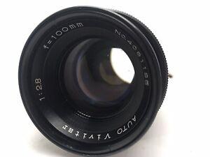 Auto Vivitar 100mm f/2.8 Lens For Canon FD Mount Breech Mount w/ Case