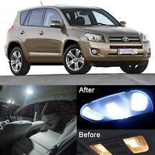 10Pcs Xenon White LED Lights Interior Package Kit For Toyota RAV4 2006-2017