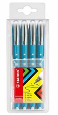 Stabilo Worker Colorful Rollerball Pens - Pack of 4 MEDIUM Pens BLUE