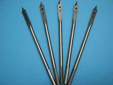 Machine Flat Wood Drill Bit 8mm x 5 - Flat Head Bit Cutter 8mm