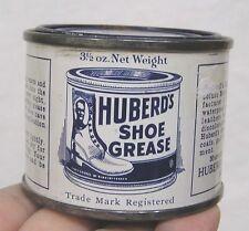 Vintage Advertising Tin Huberds Shoe Grease Tin 1930s