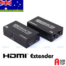HDMI Extender 3D 1080P with Audio 30 meters 100FT via Cat.5e Cat.6 Network Cable