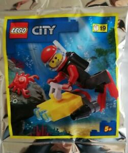 Lego City Minifigur Limited Edition TAUCHER in Polybag Neu-OVP Limited Edition +