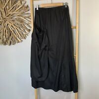 Animale Size 2 S Black 100% Cotton Skirt French Designer Peasant