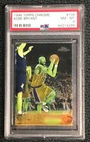 Lakers Kobe Bryant 1996 Topps Chrome #138 PSA 8 Near Mint-Mint Rookie Card Rc