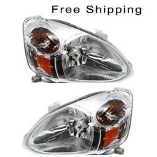 Halogen Head Lamp Assembly Set of 2 Pair LH & RH Side Fits Toyota Echo 2003-2005