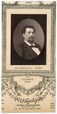Lemercier, Paris, artiste, Opéra, Hector Salomon (1838-1906) Vintage Print, vint
