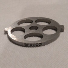 "Berucci Meat Grinder plate disc for FGA KitchenAid Mixer Attachment 5/8"" holes"