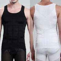Men Body Slimming Tummy Shaper Vest Belly Underwear Shapewear Waist Girdle Shirt