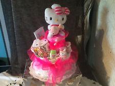 Windeltorte Taufgeschenk, Geburt, Babykleidung ,Hello Kitty  HOBBYAUFLÖSUNG