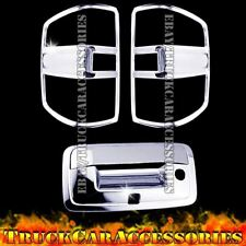 For Silverado 1500+2500/3500HD 2014-2016 2017 Chrome Covers Tail Light+Tailgate