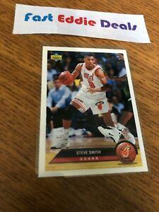 1993 UPPER DECK NBA BASKETBALL STEVE SMITH MCDONALD'S INSERT ROOKIE CARD HEAT