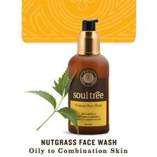 SOULTREE Nutgrass Face Wash, with Natural Neem and soothing Chamomile, 120 ml